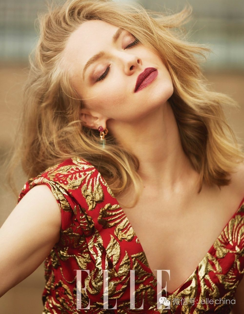 AMANDA SEYFRIED in Elle Mahazine, China September 2016 Issue