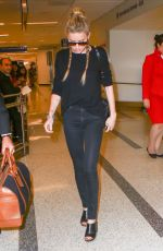 AMBER HEARD at LAX Airport in Los Angeles 08/12/2016