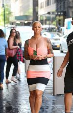 AMBER ROSE Out and About in New York 08/15/2016