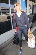 AMBER VALLETTA at LAX Airport in Los Angeles 08/24/2016