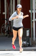 ANDI DORFMAN Out Jogging in West Village 08/04/2016