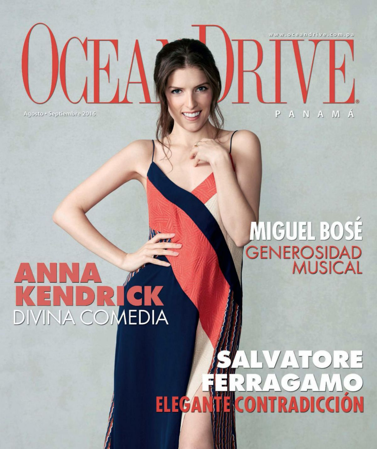 ANNA KENDRICK In Ocean Drive Magazine Panama August September 2016