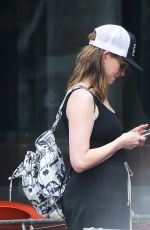 ANNE HATHAWAY Out and About in New York 08/19/2016