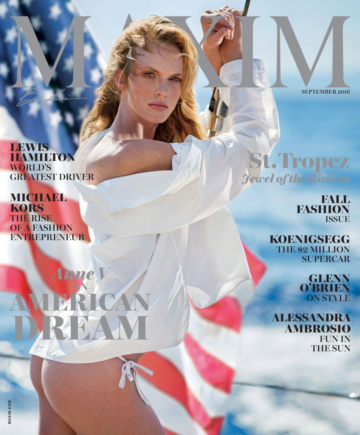 ANNE VYALITSYNA in Maxim Magazine, September 2016 Issue