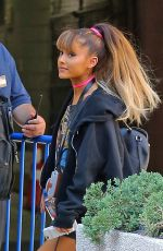 ARIANA GRANDE Arrives at Madison Square Garden in New York 08/26/2016