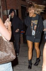 ARIANA GRANDE Night Out in New York, 08/26/2016