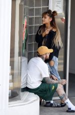 ARIANA GRANDE Out in West Hollywood 08/25/2016