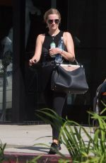 ASHLEE SIMPSON Leaves a Gym in Los Angeles 08/24/2016