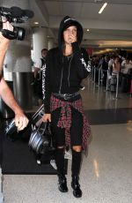 BELLA HADID at Los Angeles International Airport 08/17/2016
