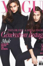 BELLA HADID in Vogue Magazine, September 2016 Issue