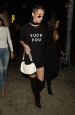 BELLA HADID Leaves Nice Guy in Hollywood 08/03/2016
