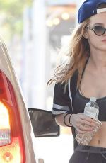 BELLA THORNE at a Gas Station in Los Angeles 08/23/2016