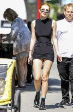 BELLA THORNE in Short Dress Out in Montreal 08/09/2016