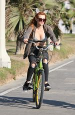 BELLA THORNE Riding Her Bike Out in Los Angeles 08/13/2016