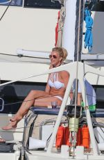 BRITNEY SPEARS in Bikini at a Boat in Hawaii 08/06/2016
