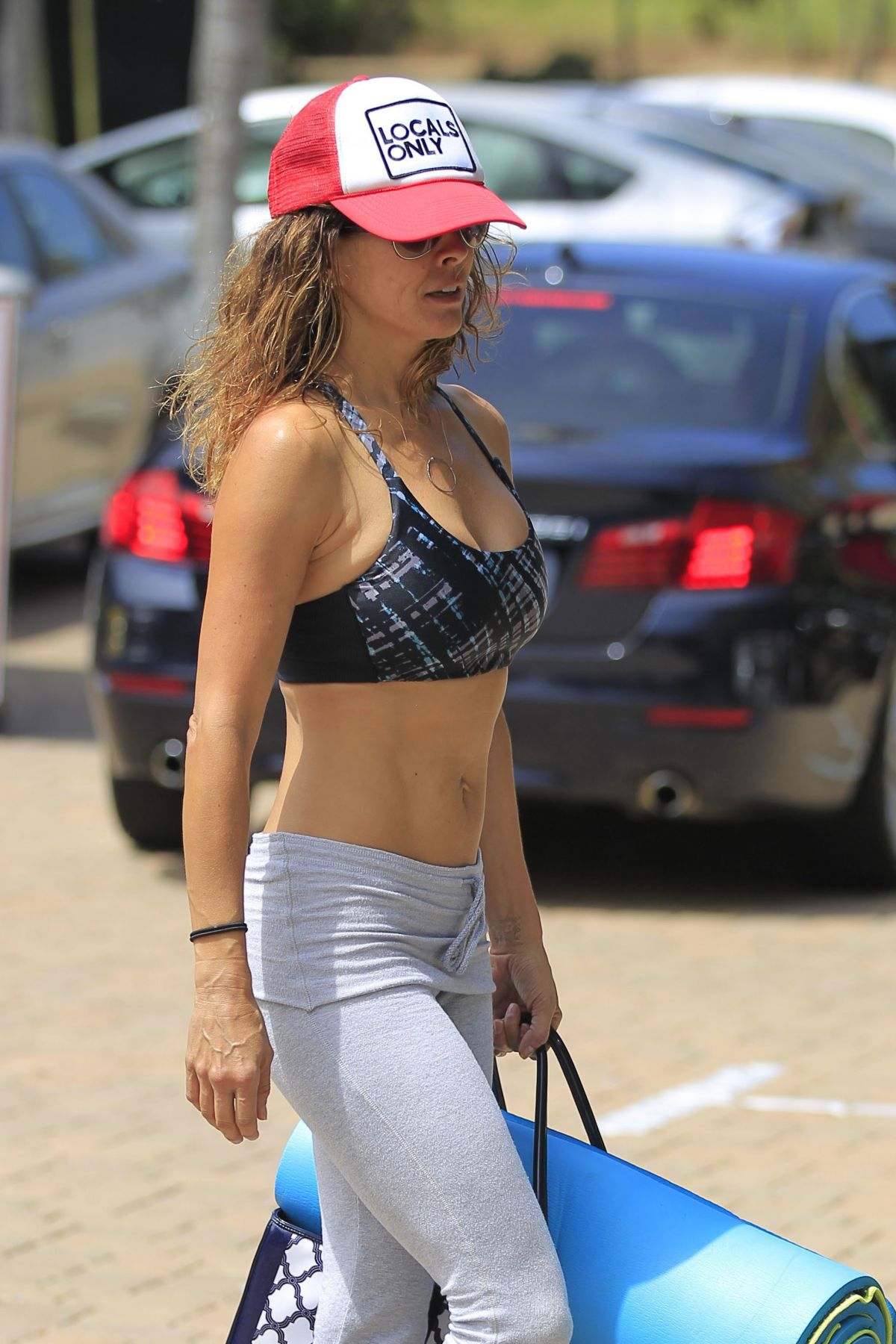 BROOKE BURKE at a Yoga Class in Malibu 08/14/2016