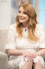 BRYCE DALLAS HOWARD on the Set of Lorraine TV Show in London 08/02/2016