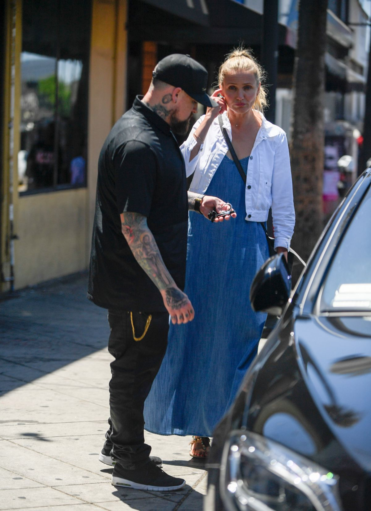 Cameron Diaz And Benji Madden Out For Lunch In Beverly
