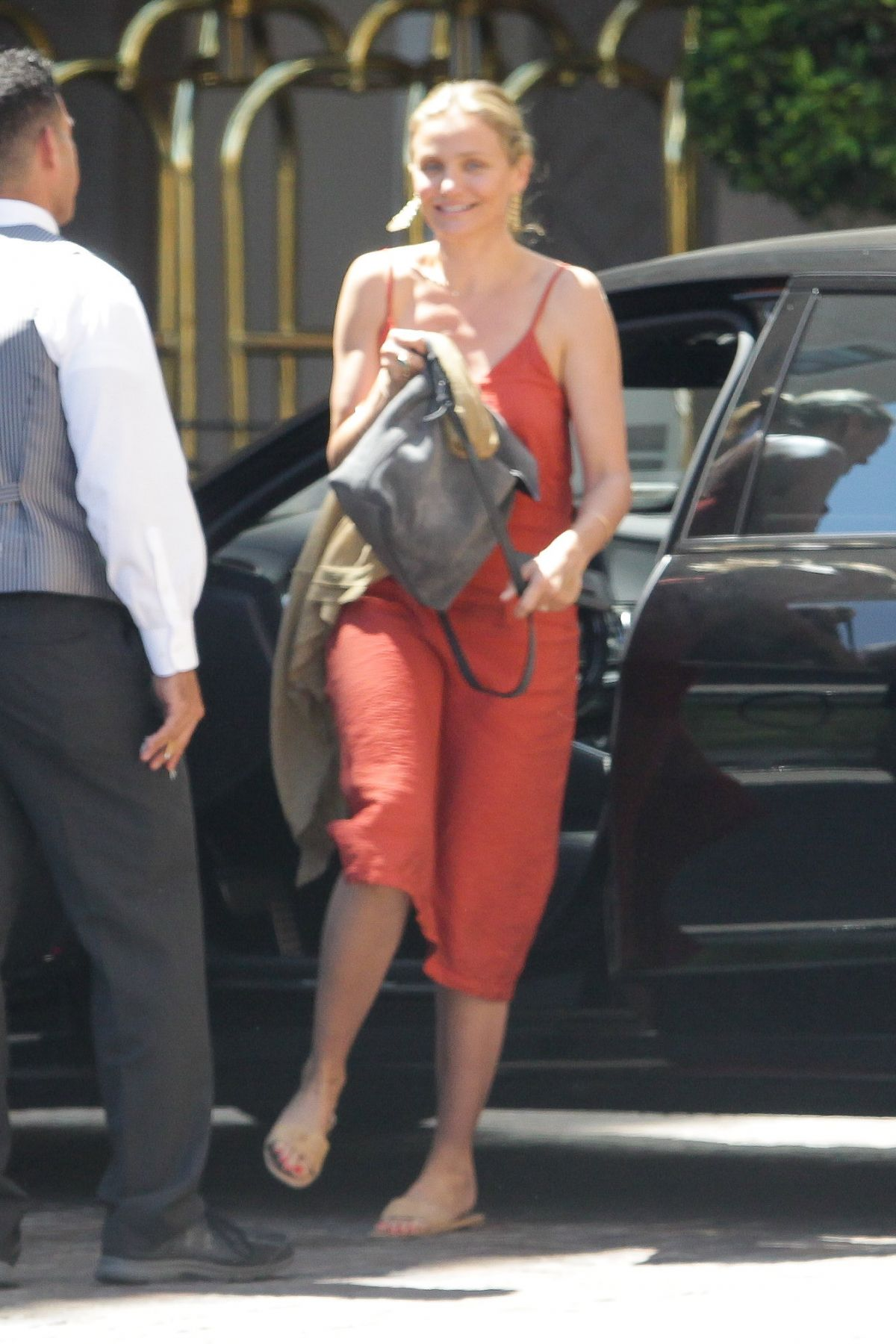 CAMERON DIAZ Arrives at a Hotel in Beverly Hills 08/15/2016