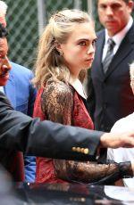 CARA DELEVINGNE Arrives at Good Morning America Studio in New York 08/01/2016
