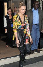 CARA DELEVINGNE Leaves Her Hotel in London 08/04/2016