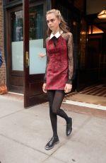 CARA DELEVINGNE Leaves Her Hotel in New York 08/01/2016