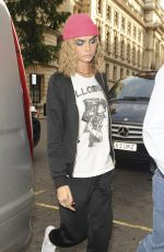 CARA DELEVINGNE Out and About in London 08/05/2016