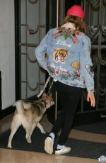 CARA DELEVINGNE Out with Her Dog in London 08/03/2016