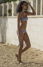 CHANEL IMAN in Bikini on the Beach in Barbados 08/03/2016