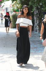 CHANEL IMAN Leaves a Restaurant in West Hollywood 08/25/2016