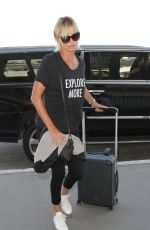 CHARLIZE THERON Arrives at LAX Airport in Los Angeles 08/12/2016