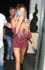 CHARLOTTE CROSBY Arriving at Her Hotel in London 08/19/2016