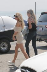 CHARLOTTE MCKINNEY in Tight Dress Out in Malibu 07/31/2016