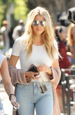 CHARLOTTE MCKINNEY Out for Coffee in West Hollywood 08/10/2016