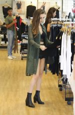 CHER LLOYD Shopping at American Apparel in West Hollywood 08/14/2016
