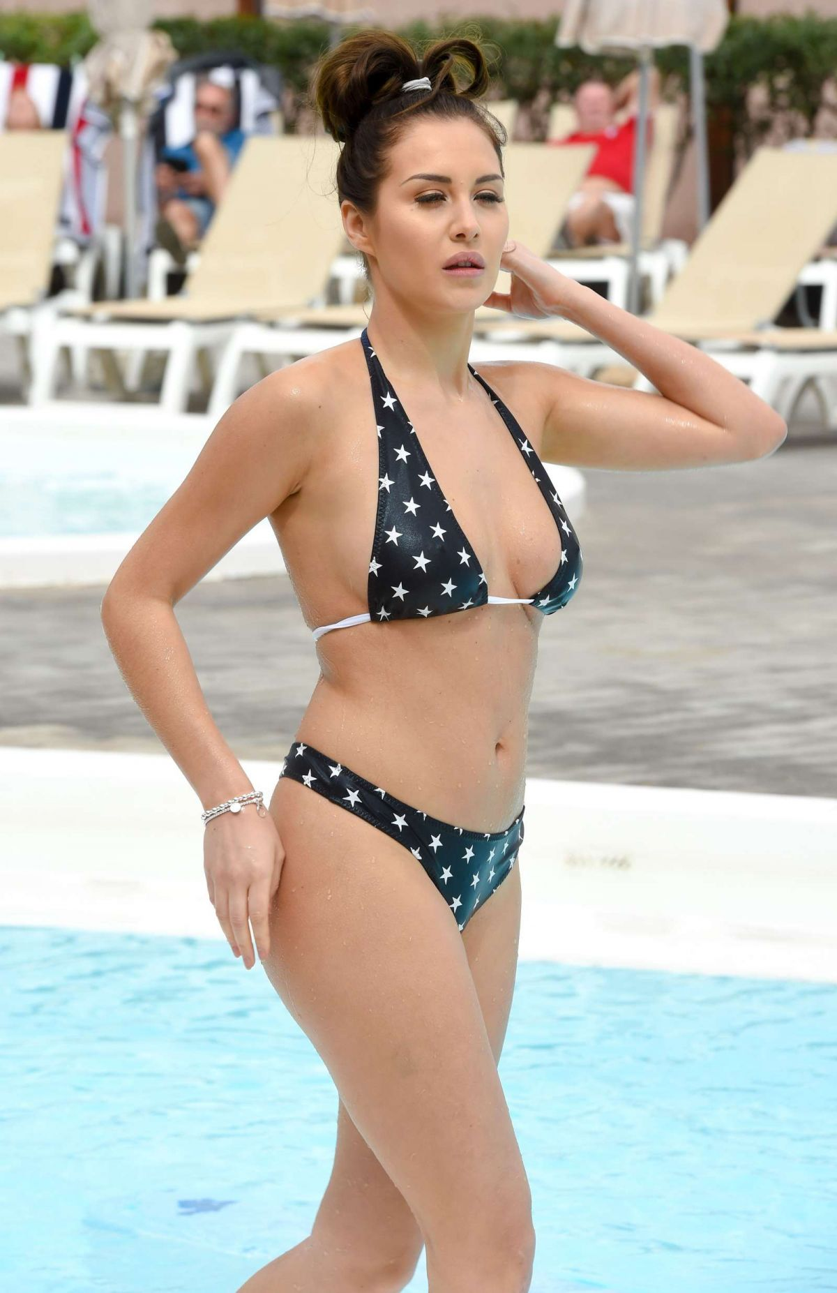CHLOE GOODMAN in Bikini at a Pool in Lanzarote 08/01/2016