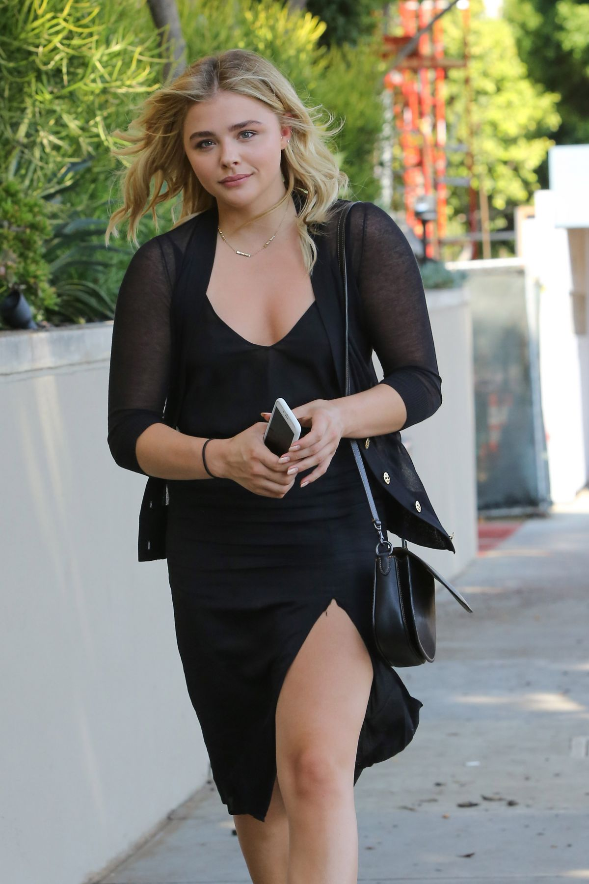 CHLOE MORETZ Out and About in Beverly Hills 08/23/2016