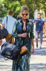 CHRISSY TEIGEN Out and About in New York 08/29/2016
