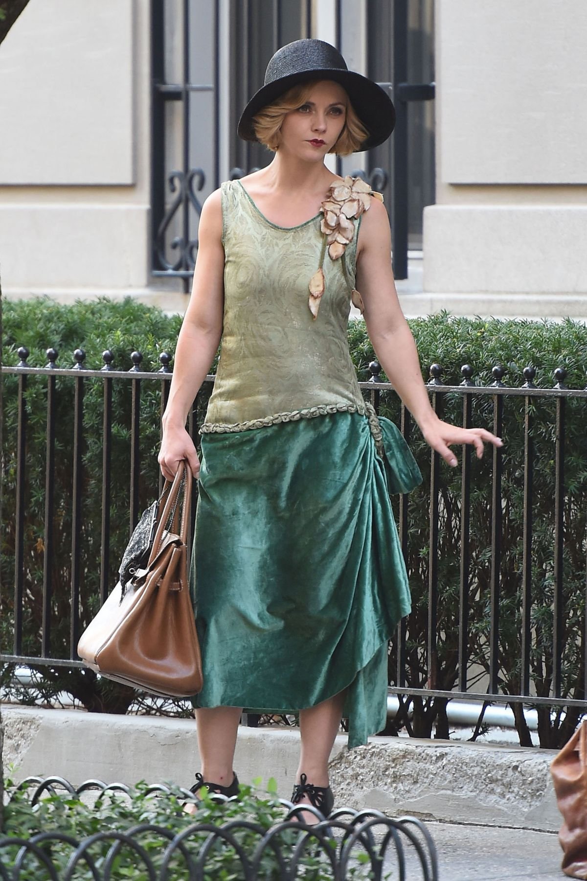 CHRISTINA RICCI on the Set of 'Z: the Begining of Everything' in ... Christina Ricci