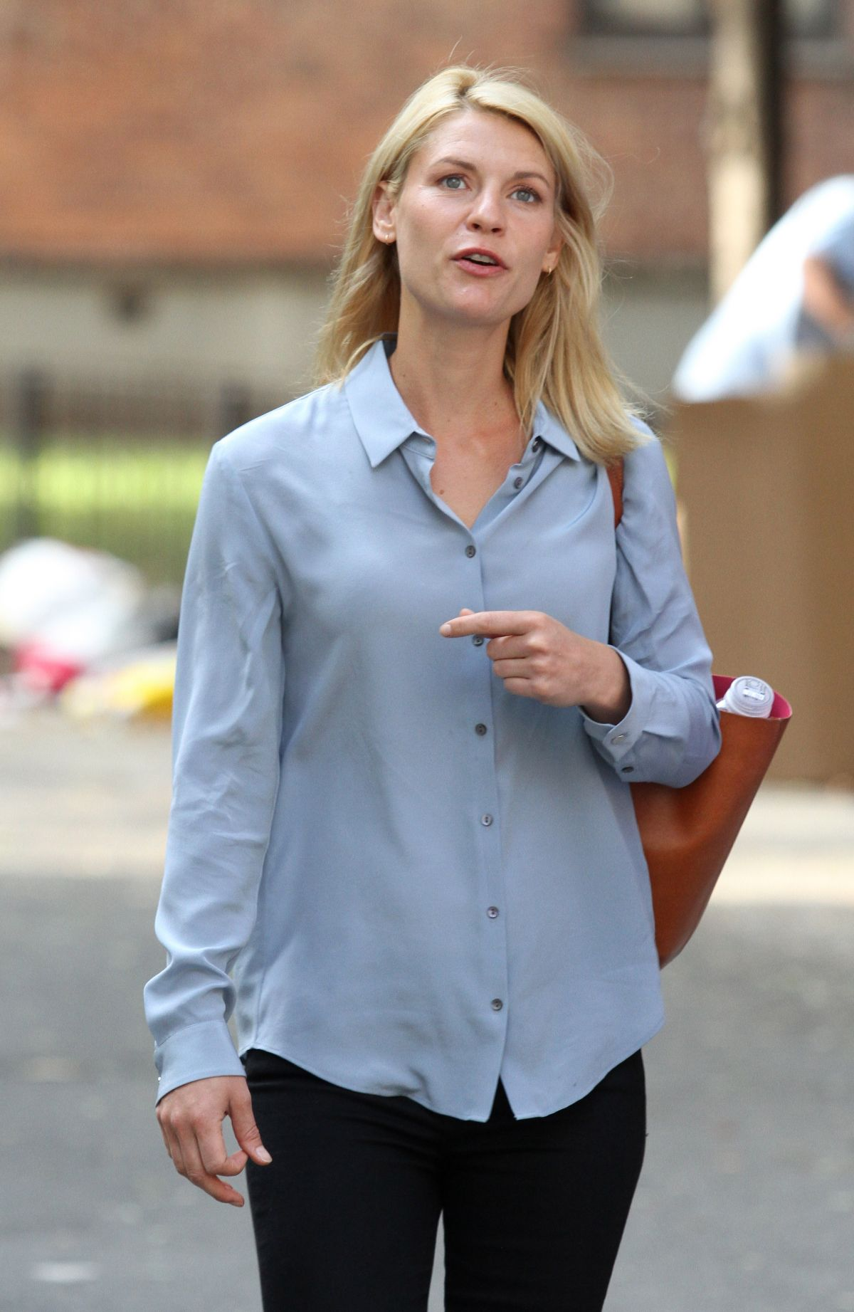 CLAIRE DANES on the Set of 'Homeland' in New York 08/29 ... Claire Danes
