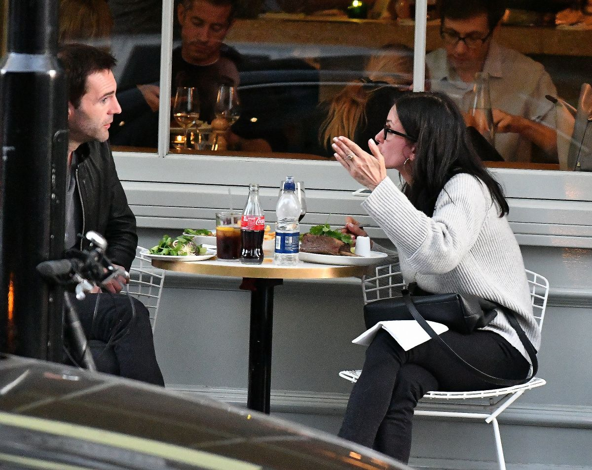 COURTENEY COX at a Restaurant in Notting Hill 08/07/2016