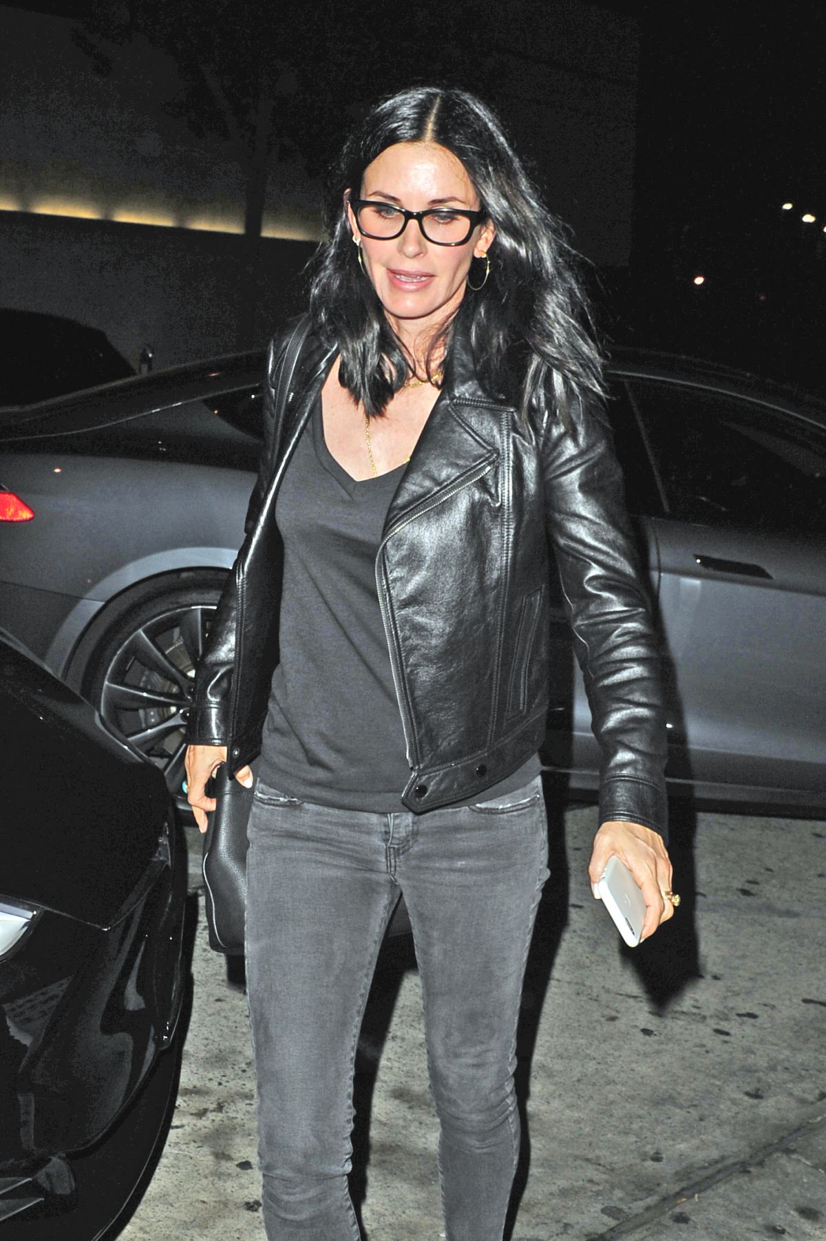 COURTENEY COX Night Out in Beverly Hills 08/13/2016