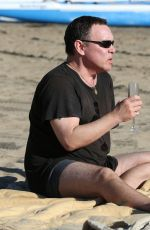 COURTNEY STODDEN in Bikini with Doug Hutchison at Venice Beach 08/17/2016