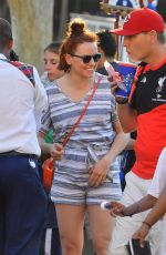 DAISY RIDLEY at Disneyland in Anaheim 08/04/2016