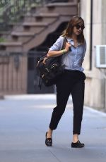DAKOTA JOHNSON Out and About in New York 08/30/2016