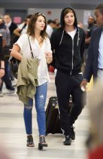 DANIELLE CAMPBELL and Louis Tomlinson at Airport in New York 08/19/2016