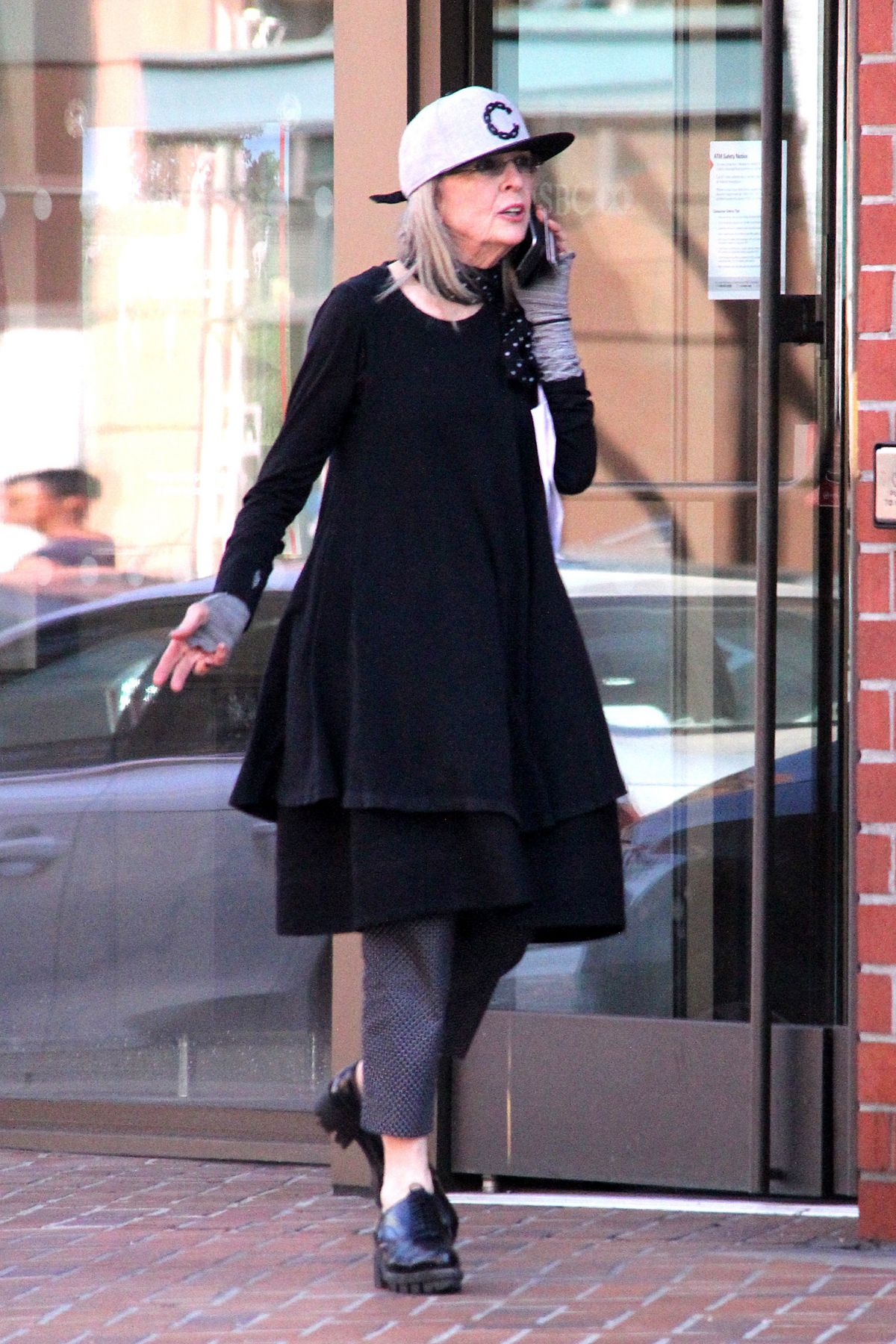 DIANE KEATON Out and About in Beverly Hills 05/08/2016