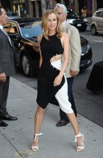 DIANE KRUGER Arrives at Late Show with Stephen Colbert in New York 08/04/2016