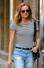 DIANE KRUGER in Ripped Jeans Out in New York 08/05/2016