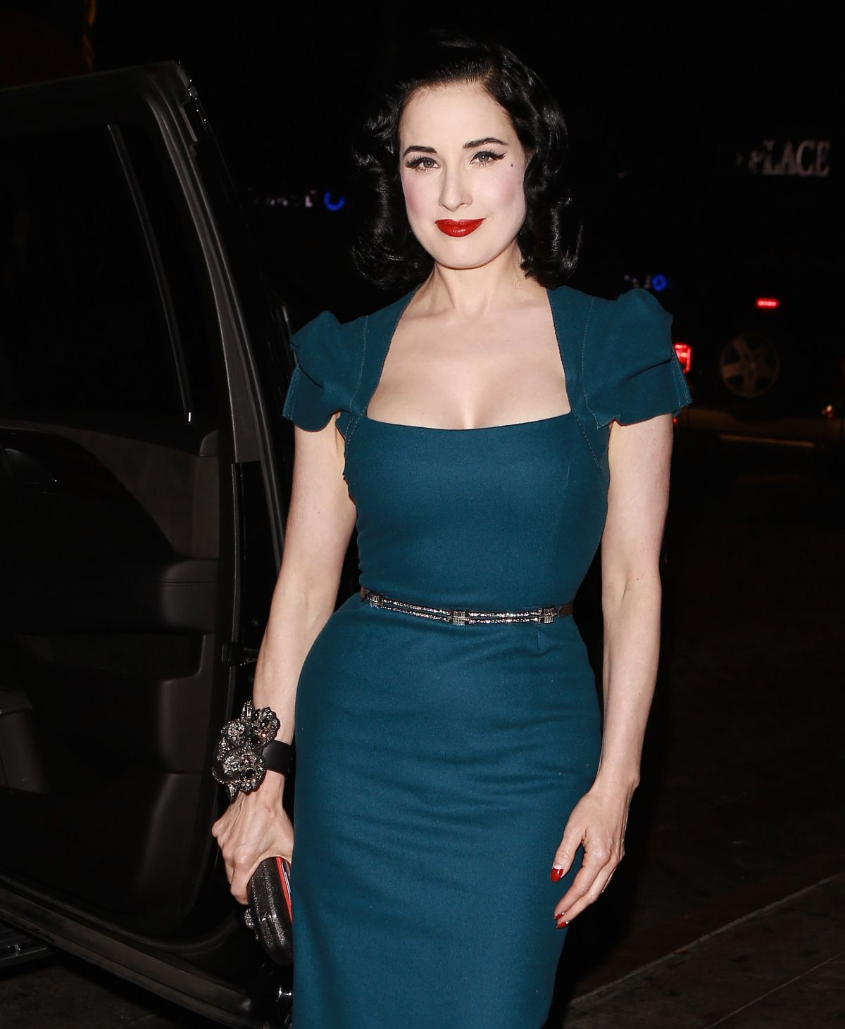 DITA VON TEESE Night Out in Los Angeles 08/24/2016 - HawtCelebs ... Dita Von Teese